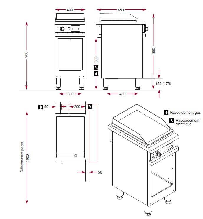 Dimensions du gril Ambassade CMG410SLKC