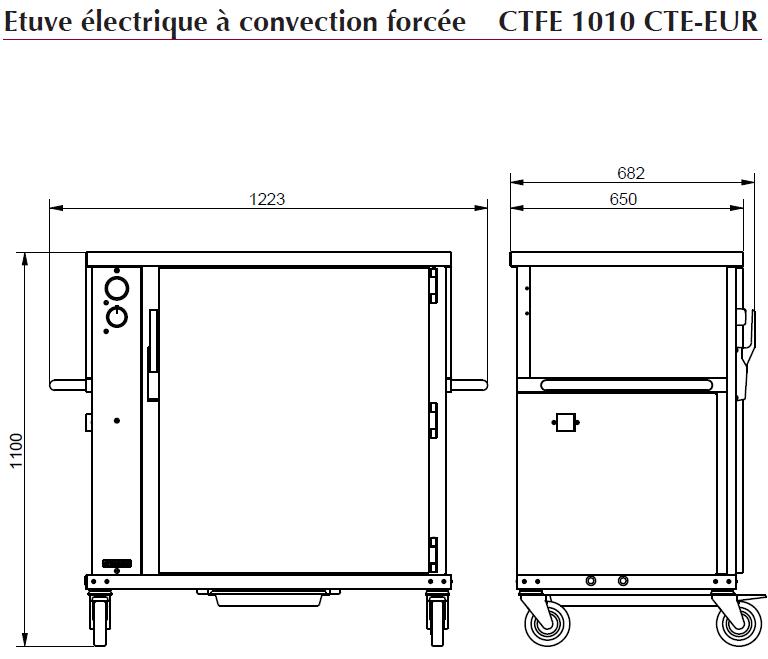 Dimensions CTFE1010CTE-EUR