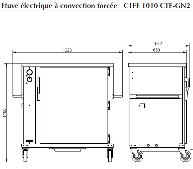 Dimensions CTFE1010CTE-GN2